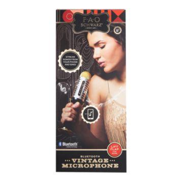 FAO Schwarz Vintage Bluetooth Musical Microphone