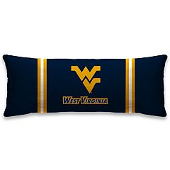 West Virginia Mountaineers 48-Inch Throw Pillow