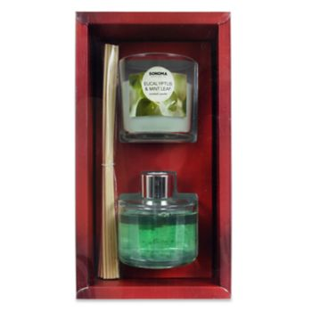 SONOMA Goods for Life? Eucalyptus & Mint Leaf Candle Diffuser Gift Set