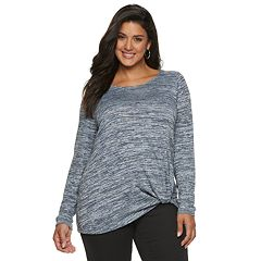 Plus Size Apt. 9® Knot-Front Top