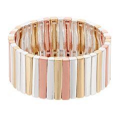 Dana Buchman Tri Tone Stick Stretch Bracelet