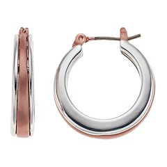 Dana Buchman Two Tone Hoop Earrings