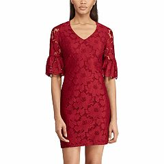 Women's Chaps Lace Bell-Sleeve Dress