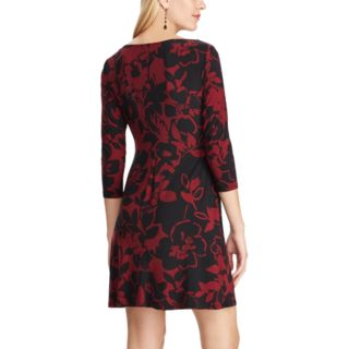 Plus Size Chaps Floral Pleated Dress