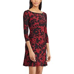 Petite Chaps Floral Fit & Flare Dress
