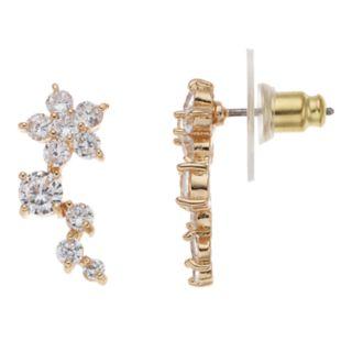 Dana Buchman Gold Tone Cubic Zirconia Ear Crawler Earrings