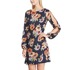 Women's Chaps Print Open Sleeve A-Line Dress