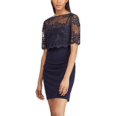 Women's Chaps Lace-Overlay Shift Dress