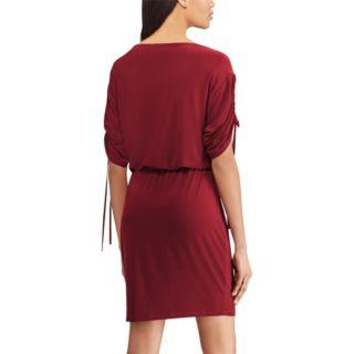Women's Chaps Drawstring-Sleeve Blouson Dress