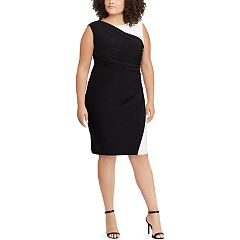 Plus Size Chaps Colorblock Sheath Dress
