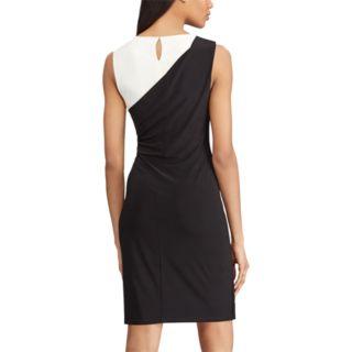 Women's Chaps Colorblock Ruched Shift Dress