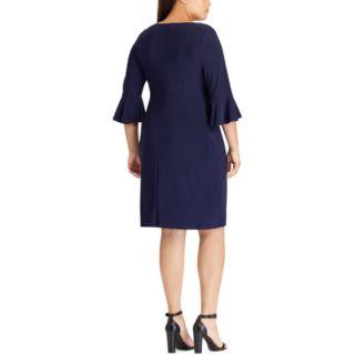 Plus Size Chaps Gathered Side Sheath Dress