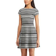 Women's Chaps Striped Fit & Flare Dress