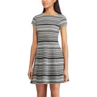 Women's Chaps Striped Fit & Flare Dress