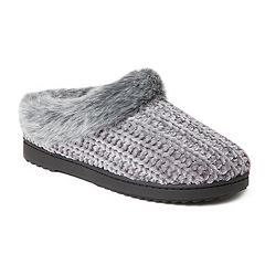 Women's Dearfoams Chenille Knit Clog Slippers