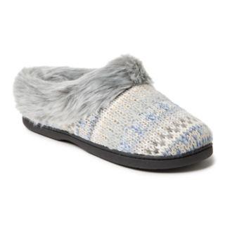 Women's Dearfoams Patterned Knit Clog Slippers