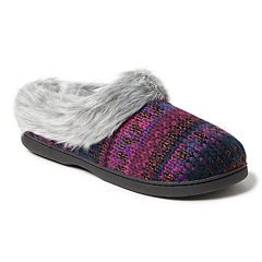 Women's Dearfoams Patterned Knit Clog Slippers