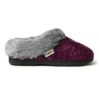 Women's Dearfoams Space Dyed Cable Knit Clog Slippers