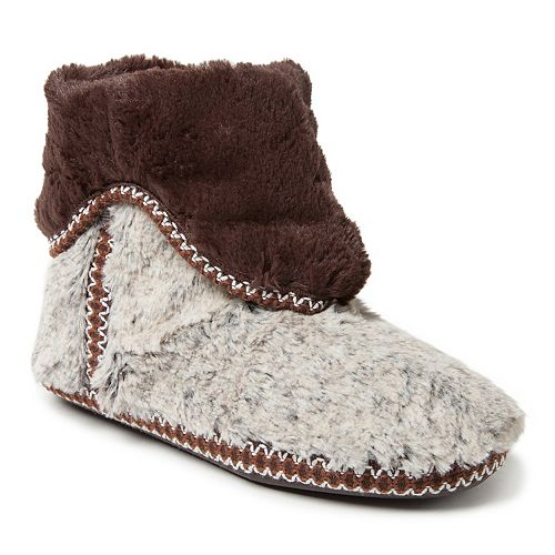 Women's Dearfoams Faux Fur Fold-Down Boot Slippers
