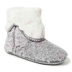 Women's Dearfoams Faux Fur Fold-Down Boot Slippers