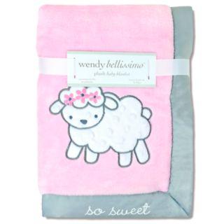 "Wendy Bellissimo Elodie Sheep ""So Sweet"" Plush Baby Blanket"