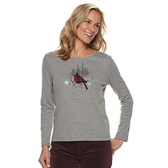 Petite Croft & Barrow® Holiday Long-Sleeve Top