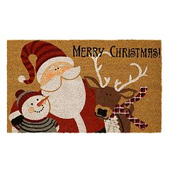 Mohawk® Home Merry Christmas Buddies Coir Doormat - 18'' x 30''