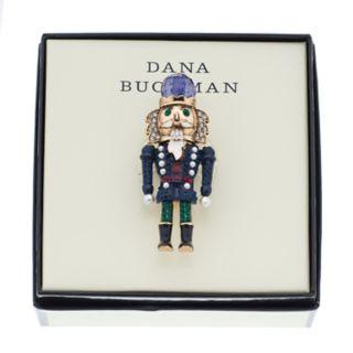 Dana Buchman Simulated Crystal & Pearl Nutcracker Pin