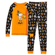 Boys 4-8 Peanuts Snoopy Boo Glow-in-the-Dark 2-Piece Pajama Set