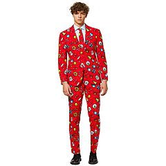 Men's OppoSuits Slim-Fit Dapper Decorator Novelty Suit & Tie Set