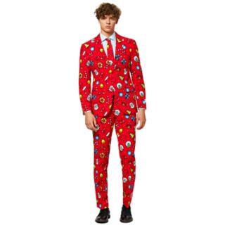 Men's OppoSuits Slim-Fit Dapper Decorator Novelty Suit & Tie Set
