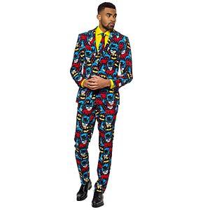 Men's OppoSuits Slim-Fit The Dark Knight Novelty Suit & Tie Set