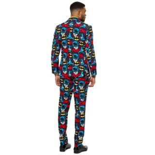 Men's OppoSuits Slim-Fit The Dark Knight Novelty Suit & Tie Set