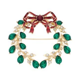 Dana Buchman Holiday Wreath Pin