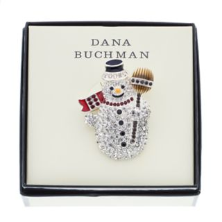 Dana Buchman Simulated Crystal Snowman Pin