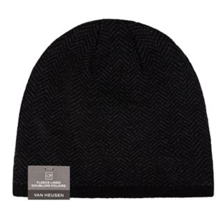 Men's Van Heusen Herringbone Fleece-Lined Hat