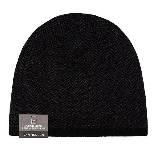 Men s Van Heusen Herringbone Fleece-Lined Hat cd4d4b61f7b