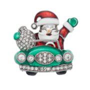 Dana Buchman Simulated Crystal Santa's Car Pin