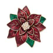 Dana Buchman Poinsettia Pin