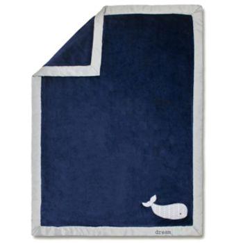 "Wendy Bellissimo Hudson Landon ""Dream BIG"" Whale Plush Baby Blanket"