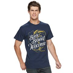 Men's Born & Brewed In Wisconsin Tee