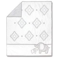 Wendy Bellissimo Hudson Elephant Reversible Crib Quilt