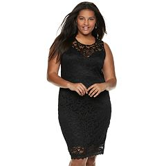 Juniors' Plus Size Liberty Love Lace Bodycon Dress