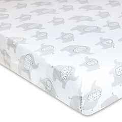 Wendy Bellissimo Hudson Elephant Fitted Crib Sheet