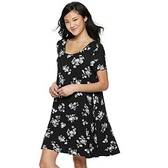 Juniors' SO® Crisscross Back Swing Dress