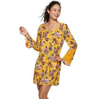 Juniors' Speechless Crochet Sleeve Shift Dress