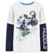 "Boys 4-12 Carter's ""Huddle"" Football Mock-Layer Graphic Tee"