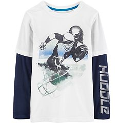 Boys 4-12 Carter's 'Huddle' Football Mock-Layer Graphic Tee