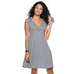 Juniors' SO® Cinch V-Neck Skater Dress