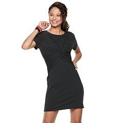 Juniors' SO® Twist Front Dress